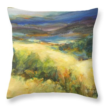 Meadowlands Of Gold Throw Pillow by Glory Wood