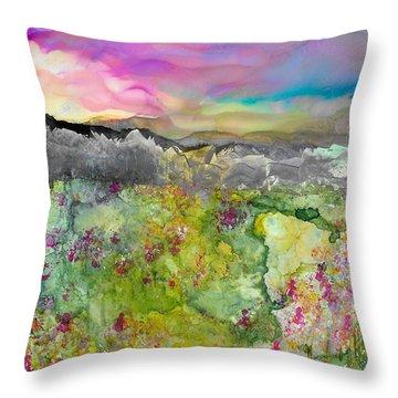Meadows Of Banff Throw Pillow