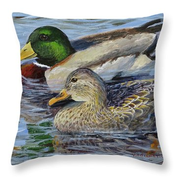 Meaghan And Jamie Throw Pillow