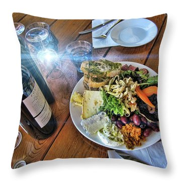 Meal -fit For A King Throw Pillow by Douglas Barnard