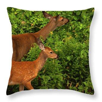 Meal Time Throw Pillow