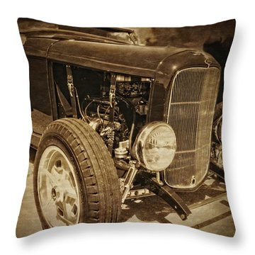Mean Roadster Throw Pillow