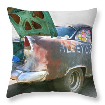 Mean Streets Throw Pillow