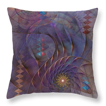 Meandering Acquiescence Throw Pillow by John Robert Beck