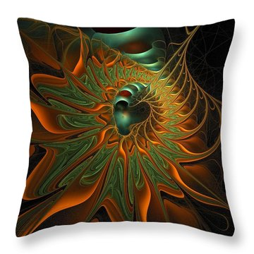 Meandering Throw Pillow by Amanda Moore
