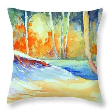 A Secret Path Throw Pillow