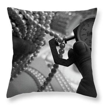 Measuring Pearls Throw Pillow