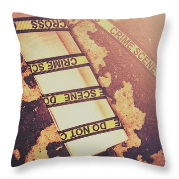 Meat Cleaver At Crime Spot Throw Pillow