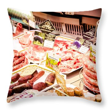 Throw Pillow featuring the photograph Meat Market by Jason Smith