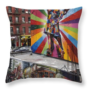 Throw Pillow featuring the photograph Meatpacking District Nyc by Juergen Held