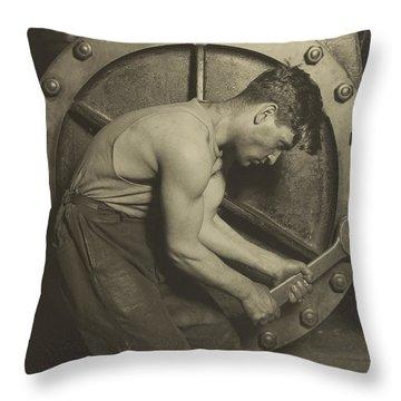 Mechanic And Steam Pump Throw Pillow