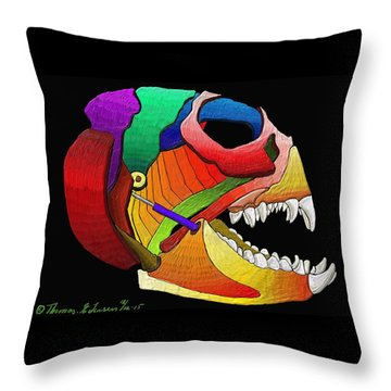Mechanic Fishhead Throw Pillow
