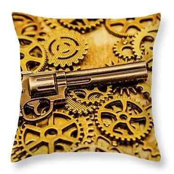 Mechanisms Of The Wild West  Throw Pillow