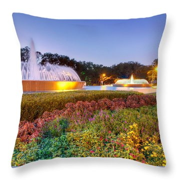Mecom Fountain Throw Pillow