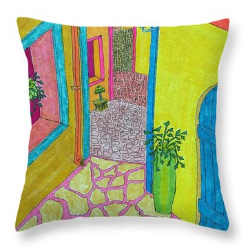 Med Town Throw Pillow