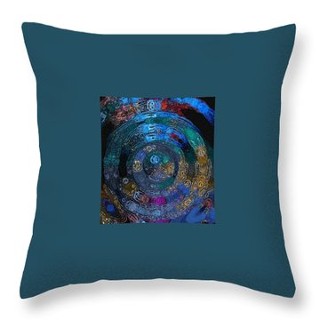 Medallion Batik Throw Pillow by Alika Kumar