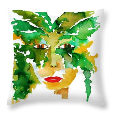 Medeina Goddess Of The Woodland Forest Throw Pillow