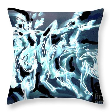 Medieval Forces Throw Pillow