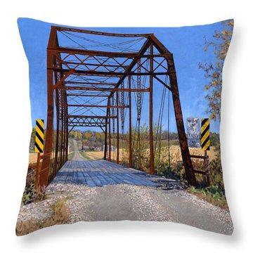 Medford Avenue Bridge Throw Pillow