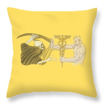 Throw Pillow featuring the mixed media Medic by TortureLord Art