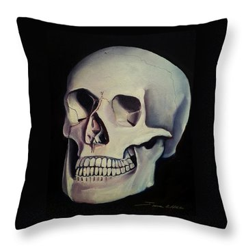Medical Skull  Throw Pillow