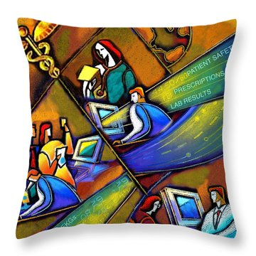 Medicare And Information Technology Throw Pillow