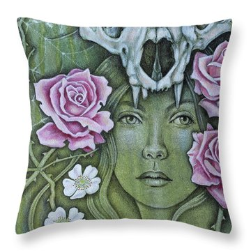 Medicinae Throw Pillow by Sheri Howe