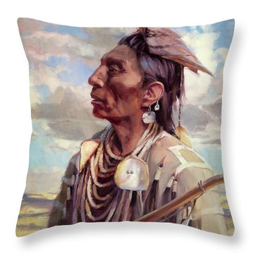 Medicine Crow Throw Pillow