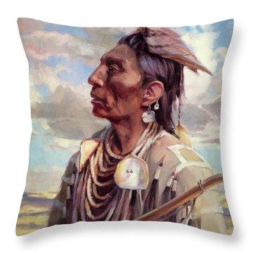Medicine Crow Throw Pillow