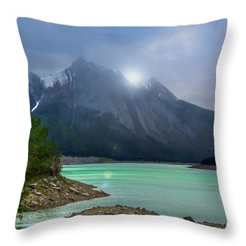 Medicine Lake, Alberta Throw Pillow