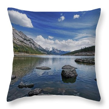 Medicine Lake, Jasper Throw Pillow