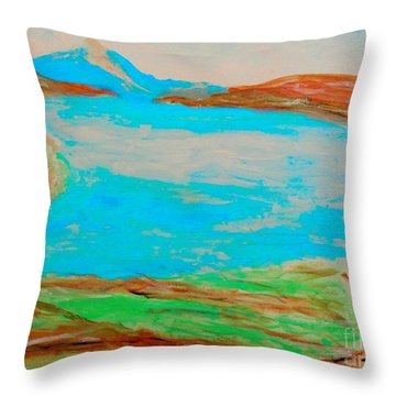 Medicine Lake Throw Pillow