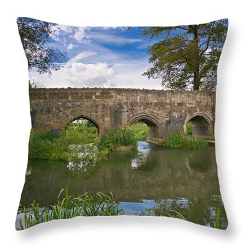 Medieval Bridge Throw Pillow by Scott Carruthers