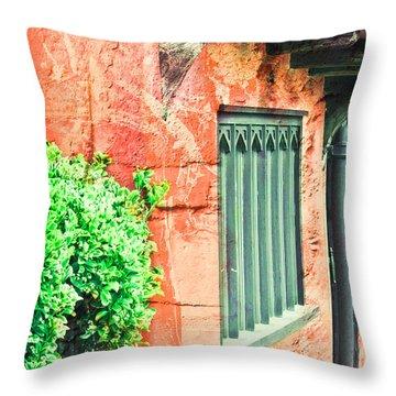 Medieval Cottage Throw Pillow
