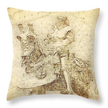 Medieval Europe Throw Pillow