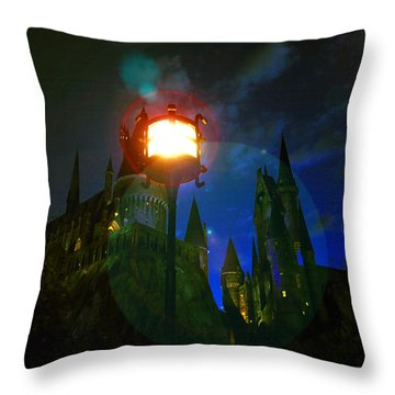 Medieval Night Throw Pillow by David Lee Thompson