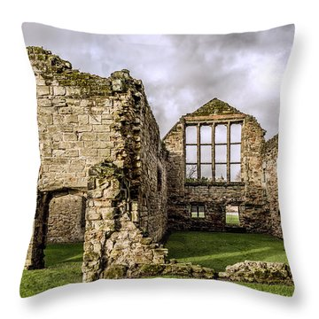 Medieval Ruins Throw Pillow
