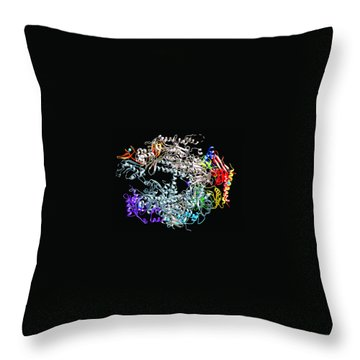 Throw Pillow featuring the digital art Medils Protein by Danica Radman