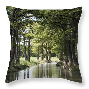 Medina River Throw Pillow
