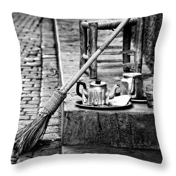 Medina Tea Break Throw Pillow by Marion McCristall
