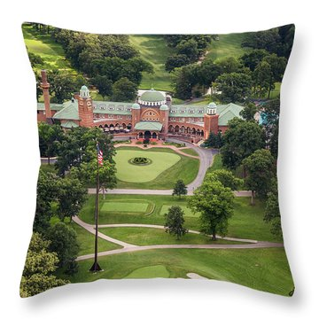 Throw Pillow featuring the photograph Medinah Country Club by Adam Romanowicz