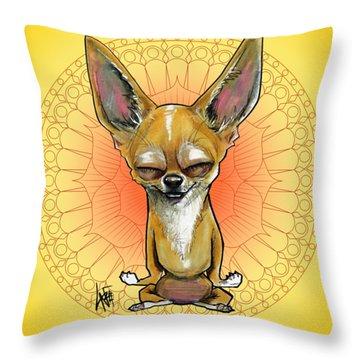 Meditating Chihuahua Throw Pillow