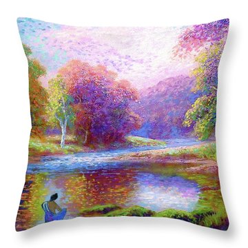Meditating On The Eternal Now Throw Pillow