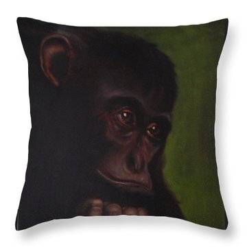 Throw Pillow featuring the painting Meditation by Annemeet Hasidi- van der Leij