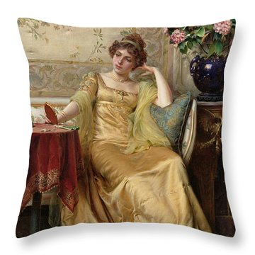 Meditation Throw Pillow by JFC Soulacroix