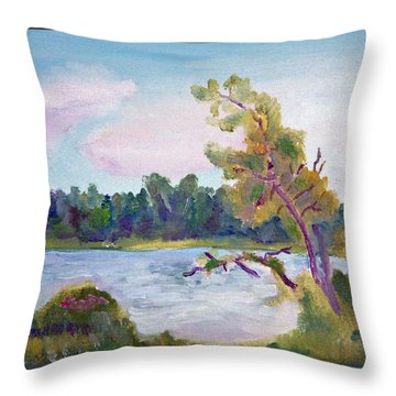 Meditation Lake  Throw Pillow