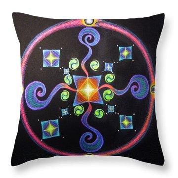 Meditation On Releasing  Throw Pillow by Janelle Schneider
