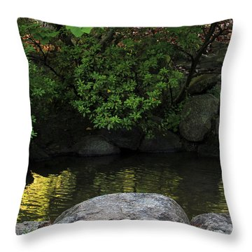 Meditation Pond Throw Pillow
