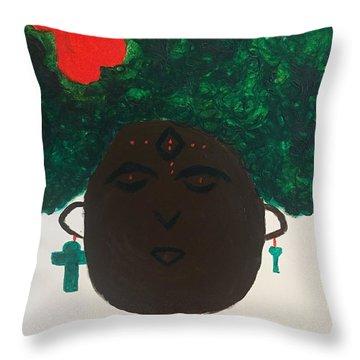 Meditation Queen  Throw Pillow