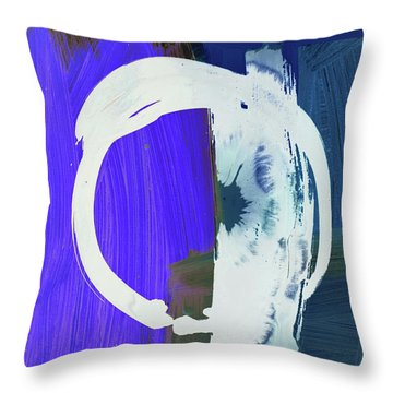 Meditation, White Enso, The Breakthrough Throw Pillow